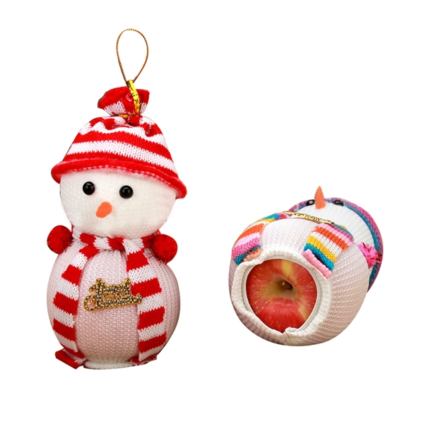 Christmas Snowman Shape Apple Bag