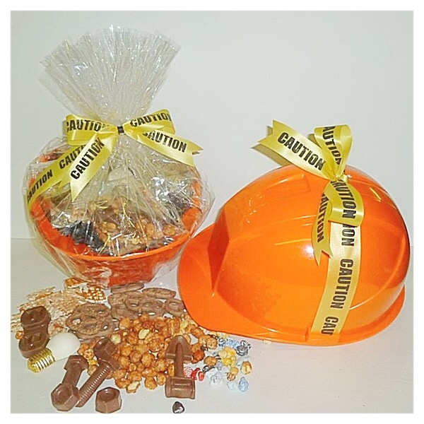 Caution! Chocolate Danger Hard Hat Gift Container