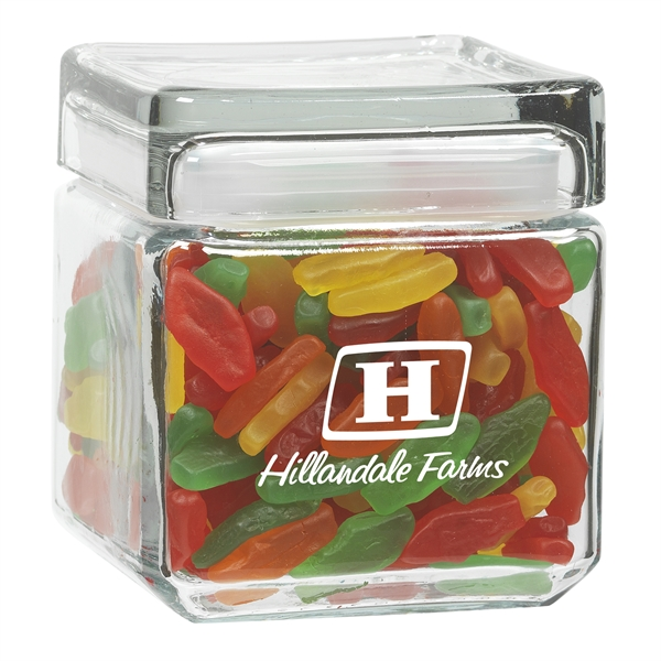 32 oz Square Glass Jar