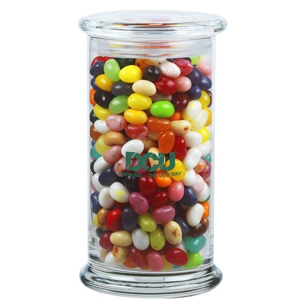 1 lb 2.8 oz. Gourmet Jelly Beans in Glass Status Jar