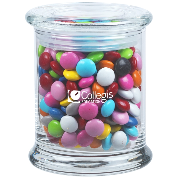 9.7 oz. Chocolate Buttons in Glass Status Jar