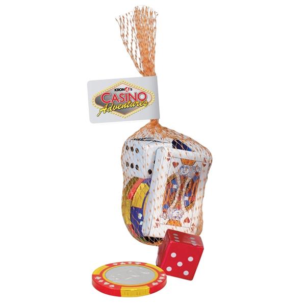 Casino Mesh Bag with Chocolates