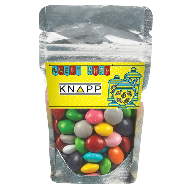 Resealable Clear Pouch With Chocolate Buttons