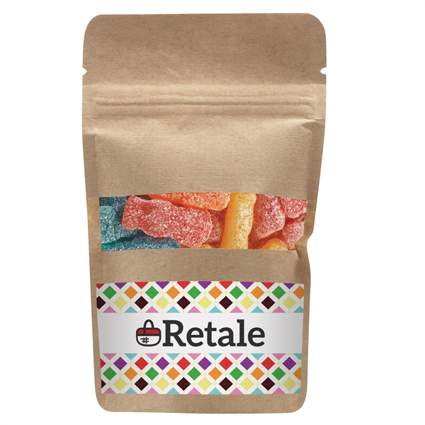 Resealable Kraft Window Pouch With Sour Patch® Kids