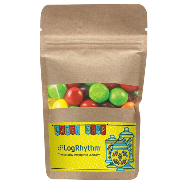 Resealable Kraft Window Pouch With Skittles®