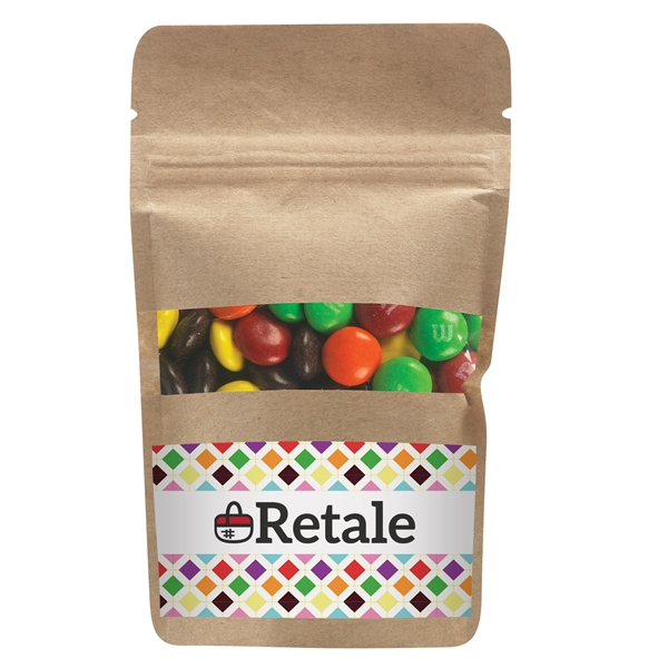 Resealable Kraft Window Pouch With M&Ms®
