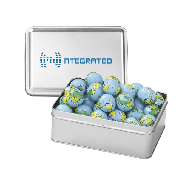 Small Rectangular Tin / Chocolate Earth Balls