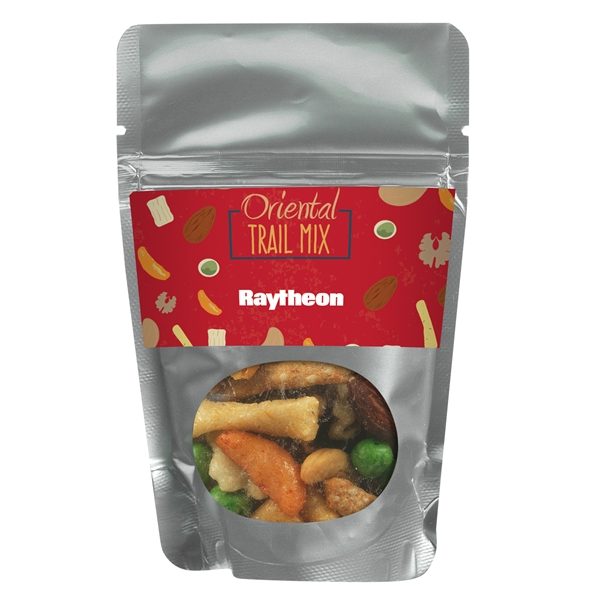 Resealable Window Pouch With Oriental Nut Mix