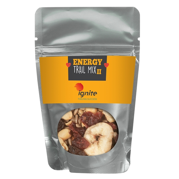 Resealable Pouch With Energy Trail Mix/No Chocolate