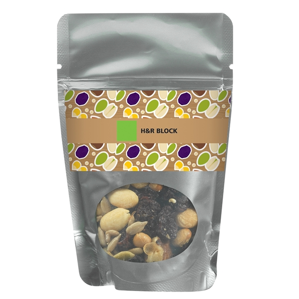 Resealable Window Pouch With Trail Mix