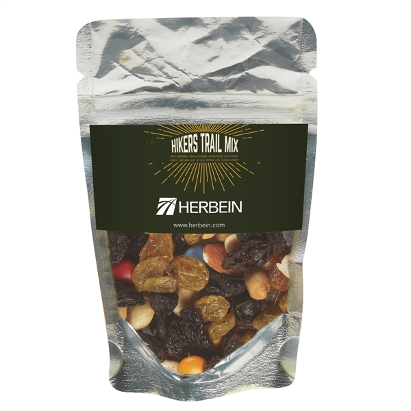 Resealable Clear Pouch With Hiker's Trail Mix
