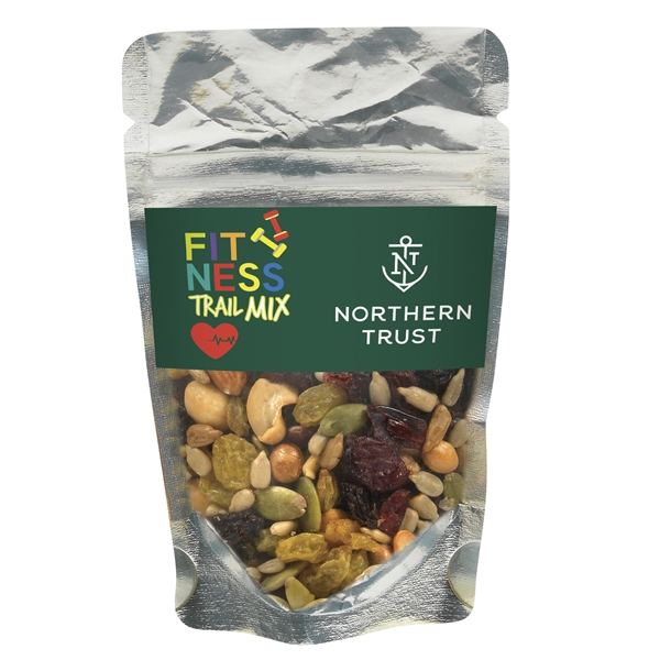 Resealable Clear Pouch With Fitness Trail Mix