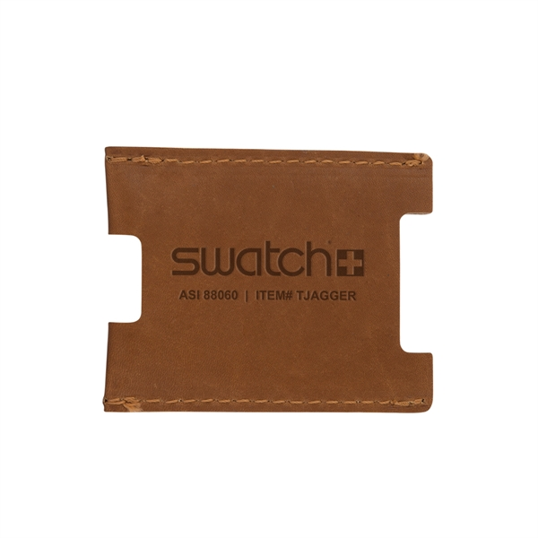 JAGGER Leather Credit Card Sleeve