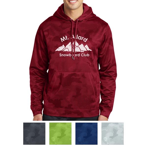 Sport-Tek Sport-Wick CamoHex Fleece Hooded Pullover