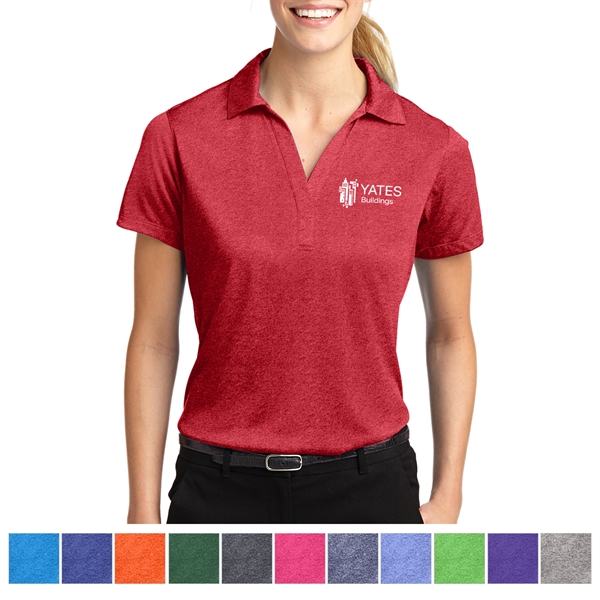 Sport-Tek Ladies' Heather Contender Polo