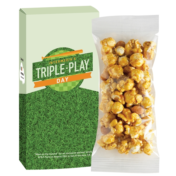 Game Day Caramel Corn With Peanuts Box