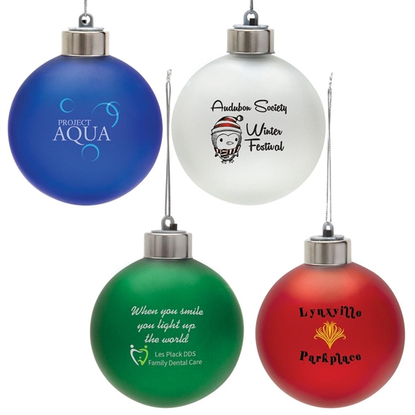 Light Up Christmas Ornament - White with Multicolor LED