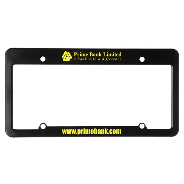 License Plate Frame (4 Holes - Straight Top)