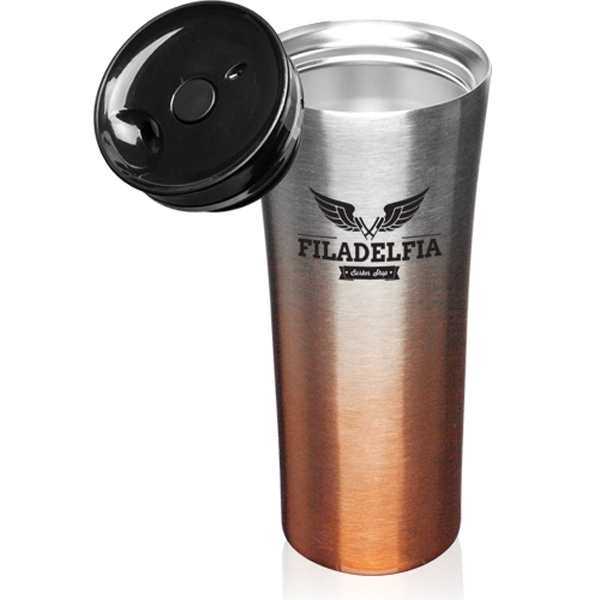 16 oz. Two Tone Stainless Steel Travel Mug