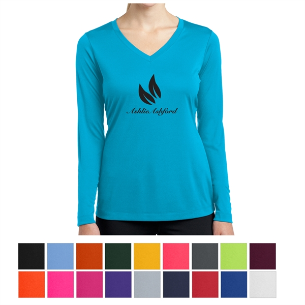 Sport-Tek Ladies' Long Sleeve PosiCharge Competitor V-Nec...