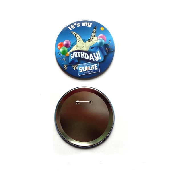 3'' Round Pin Button Badge