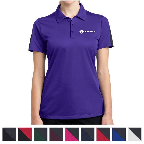 Sport-Tek Ladies' PosiCharge Active Textured Colorblock Polo