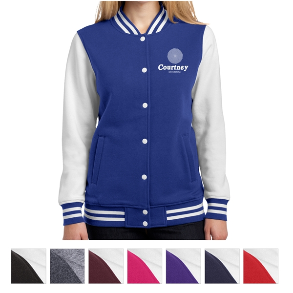 Sport-Tek Ladies' Fleece Letterman Jacket