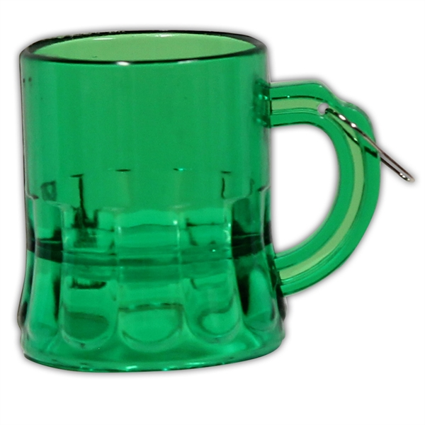 2 oz. Green Beer Mug Medallion with J-Hook