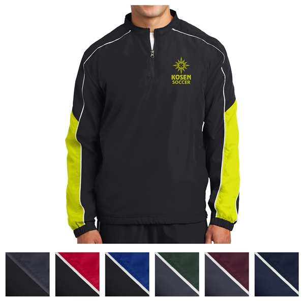 Sport-Tek Piped Colorblock 1/4-Zip Wind Shirt