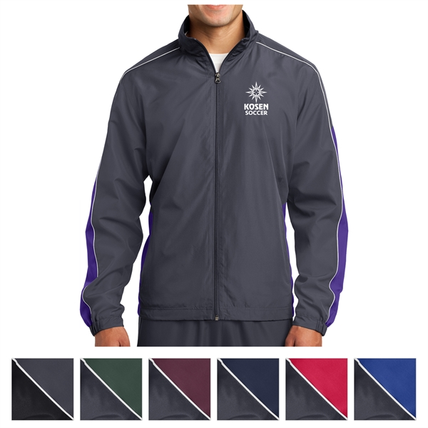 Sport-Tek Piped Colorblock Wind Jacket