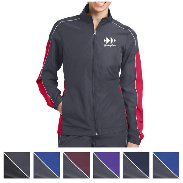 Sport-Tek Ladies' Piped Colorblock Wind Jacket