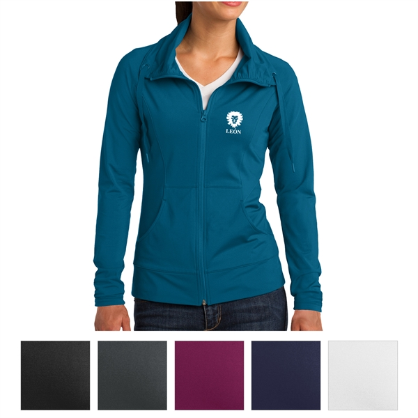 Sport-Tek Ladies' Sport-Wick Stretch Full-Zip Jacket