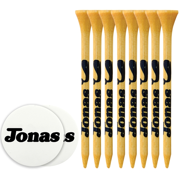 Tee Pack With Bamboo Tees And Ball Marker