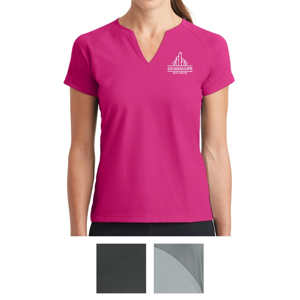 Nike Golf Ladies Dri-FIT Stretch Woven V-Neck Top