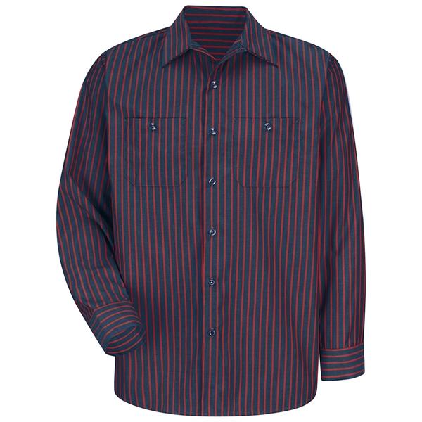 Red Kap® Durastripe® Long Sleeve Work Shirt (Long)