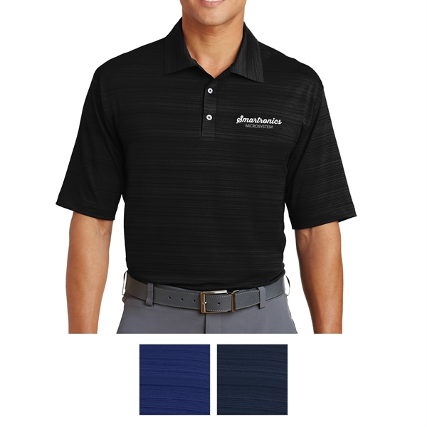 Nike Golf Elite Series Dri-FIT Heather Fine Line Bonded Polo
