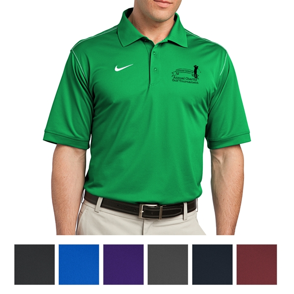 Nike Golf Dri-FIT Sport Swoosh Pique Polo