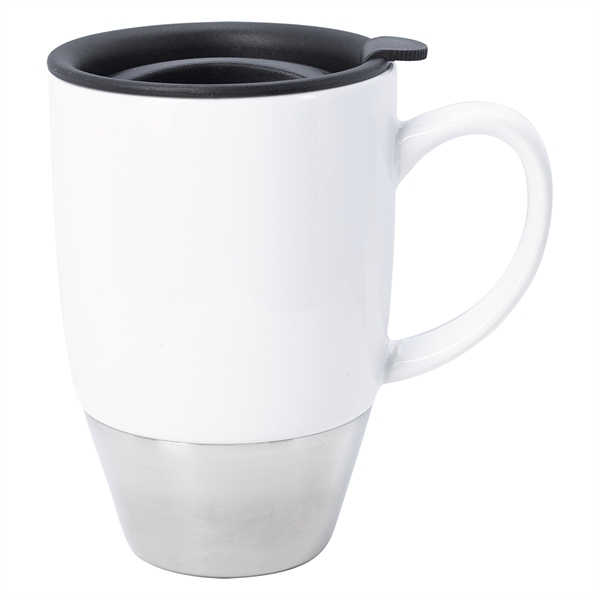 13 Oz. Stainless Steel Dipped Ceramic Mug