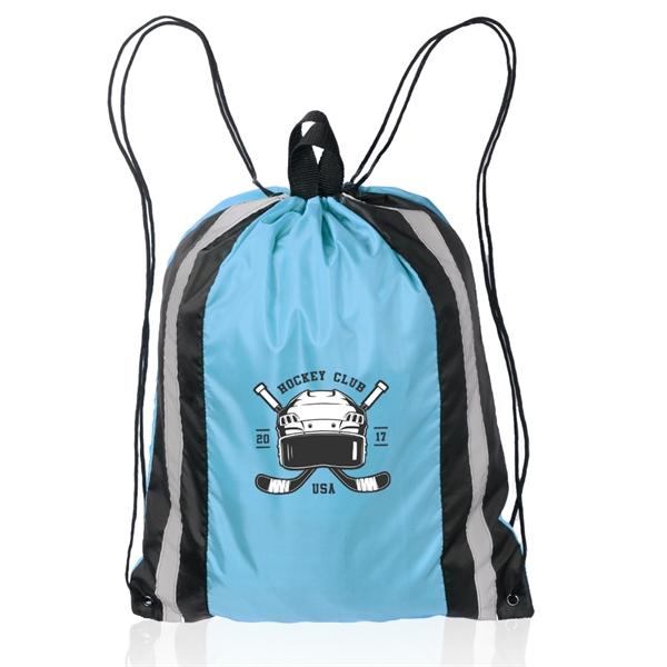 Large Reflector Drawstring Backpacks