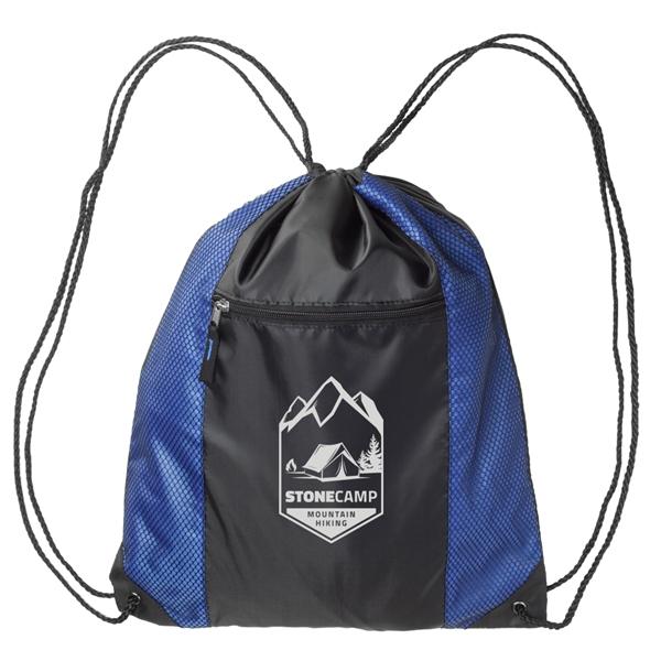 Zipper Pocket Drawstring Backpacks