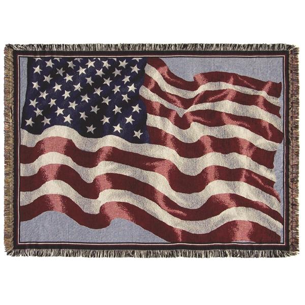 USA Waving Flag Throw