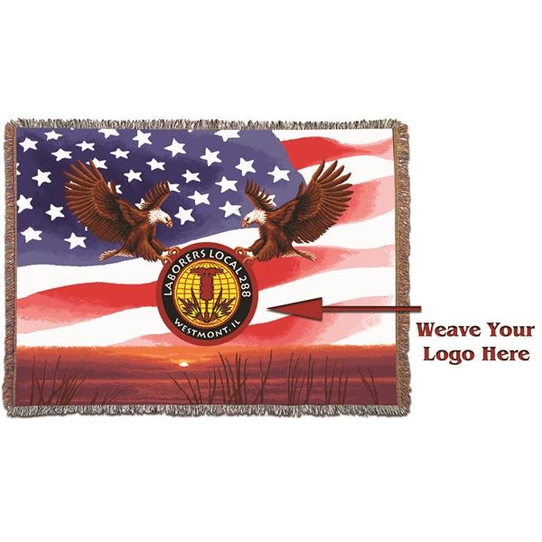 USA Sunrise Flag Throw