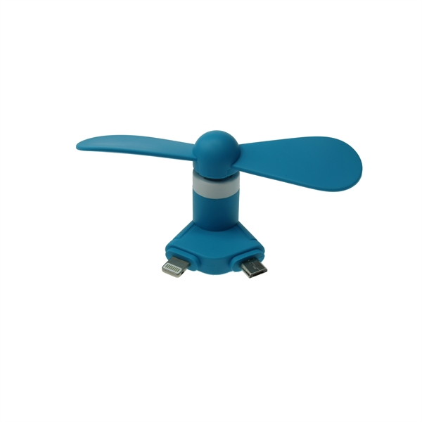 Mini USB Fan with Lightning and Micro US