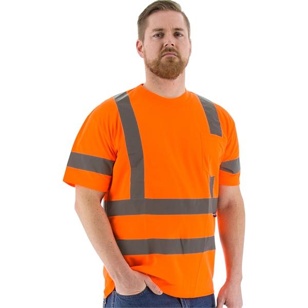 Majestic® high-visibility mesh short sleeve t-shirt.