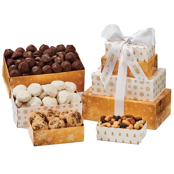 Four-Tier Tower - Bakery Item, Nuts, Pretzels