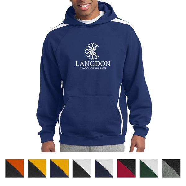Sport-Tek Sleeve Stripe Pullover Hooded Sweatshirt