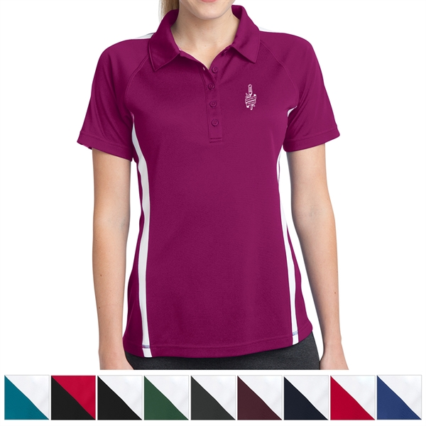 Sport-Tek Ladies' PosiCharge Micro-Mesh Colorblock Polo