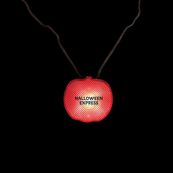 Pumpkin Light-Up Strobe Necklace