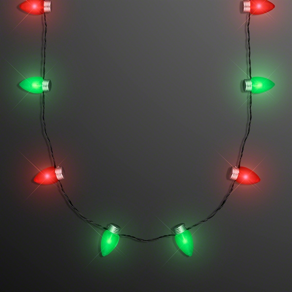 "Christmas Light Necklace With 1"" Bulbs"