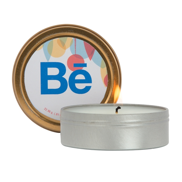 2oz. Scented Candle in Screw-Top Metal Tin